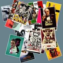 25pcs Classic Movie stickers For Luggage Laptop Art Painting Kill Bill Pulp Fiction Poster Stickers waterproof skateboard toy