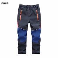 C1801 Waterproof Autumn Winter Children Patchwork Keep Warm Trousers Kids Boys Girls windproof waterproof Sport Children Pants