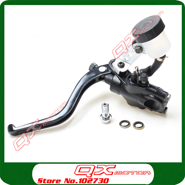 Universal 7/8 22mm Motorcycle Left Hydraulic Brake or Clutch Master Cylinder Lever With Oil Pump Free shipping left 1 25mm universal motorcycle brake clutch master cylinder hydraulic pump lever for suzuki yamaha kawasaki honda