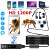 Endoscope HD 1200P Adjustable 8 LED Wifi Endoscope Camera 8 0mm With Hard Cable IP68 1M