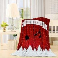 Moderna Casa de Nieve de la Feliz Navidad de Santa Claus Reno Árbol Art Prints Fleece Hoja Manta de Tiro Manta de Cama