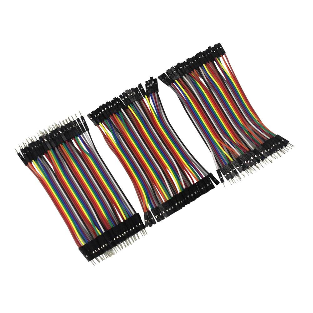 Dupont Line 10cm Male to Male + Female to Male and Female to Female Jumper Wire Dupont Cable for arduino DIY KIT 120pcs dupont breadboard pack pcb jumpers 10cm 2 54mm wire male to male male to female female to female jumper cable 10cm diy
