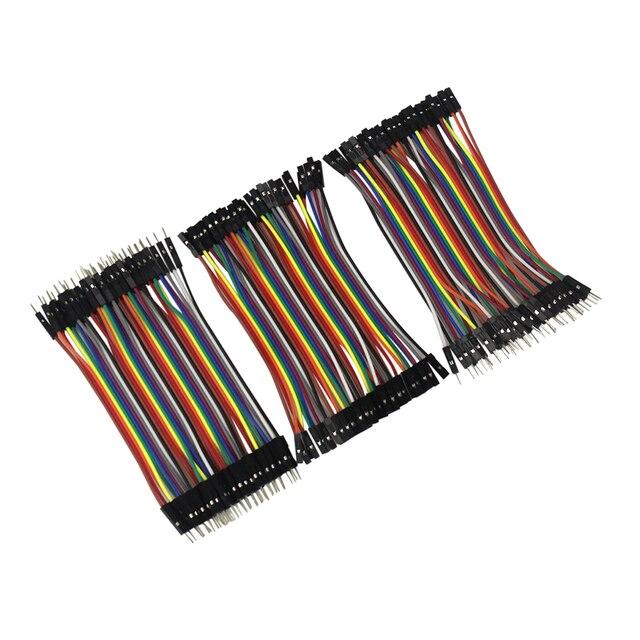 Línea Dupont 10 cm macho a macho + hembra a macho y hembra a hembra Dupont Cable para arduino, KIT de bricolaje,
