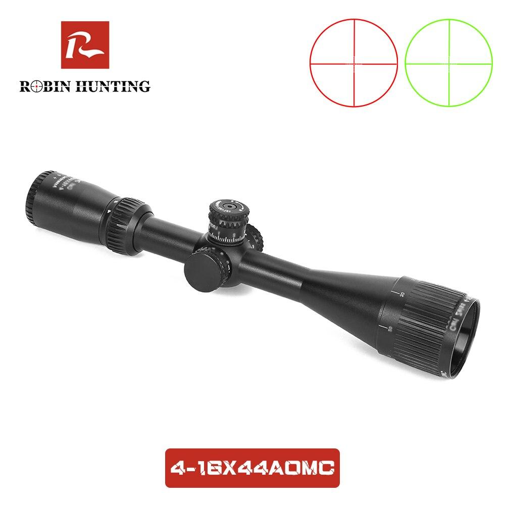4-16X44 AOMC Tratical Jagd Zielfernrohr Rot Grün Beleuchtung Einstellbar Reflex Optische Anblick Für Outdoor Jagd Zielfernrohr