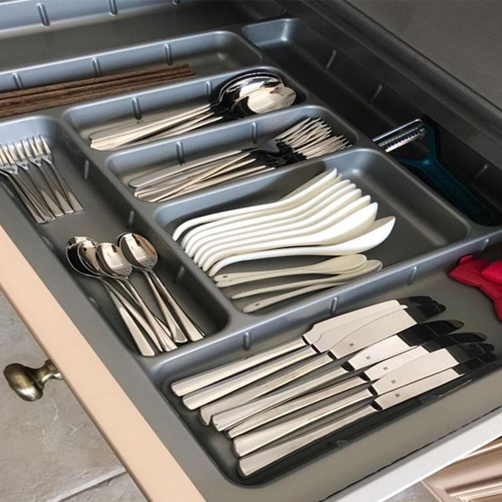 Drawer Cutlery Tray Kitchen Cabinet Chopsticks Storage Box Buffet Plates Tableware Compartment Divider Cutlery Tray Organiser Dishes & Plates    - title=