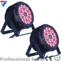Free Shipping 2PCS/LOT 18pcs 18W LED RGBWA UV 6in1 Led Par Cans Stage Lighting LED PAR IP20 Lighting 10CH