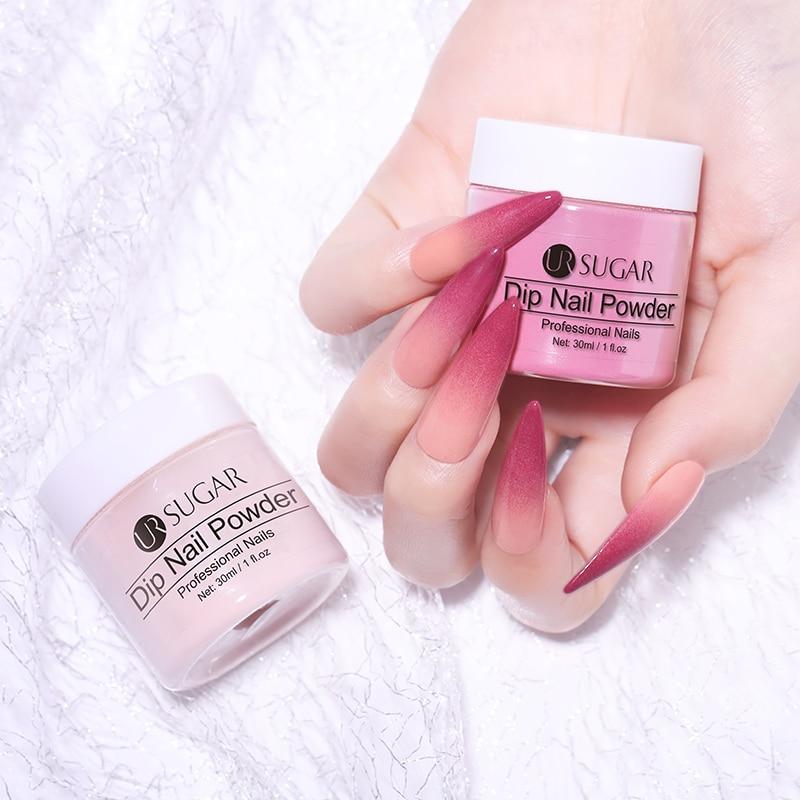 Image 5 - UR SUGAR 30ml Dipping Nail Powder Gradient Clear Coat Dip Nail Glitter Natural Dry For Nail  Nail Art Decoration-in Nail Glitter from Beauty & Health