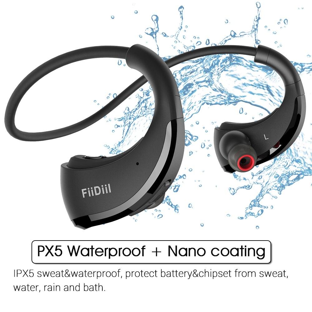 IPX5 FiiDiil Cabeça fone de Ouvido Bluetooth Handfree Fone De Ouvido fone de Ouvido Estéreo Sem Fio de Áudio para Ginásio À Prova D' Água com Microfone