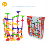 High Quality 105PCS DIY Construction Marble Race Run Maze Balls Track Building Blocks Children Gifts Baby