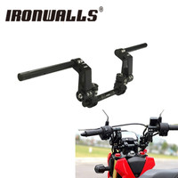 Ironwalls Black 22mm Motorcycle Handlebar Adjustable Steering Handlebars Kit Universal For Yamaha Scooter 125cc Dirt Bike Racing