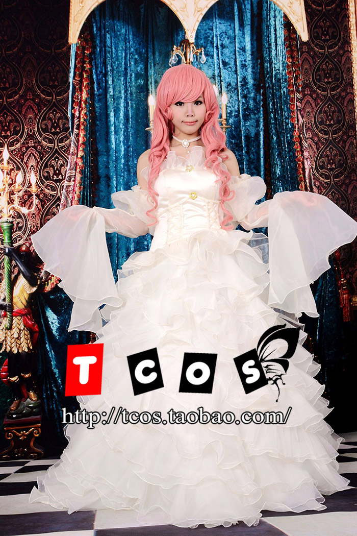 Brdwn Code Geass Cosplay Euphemia Li Britannia/Euphy Costume Women's Dress Wedding Gown Length-Skirt Rode Evening Dress