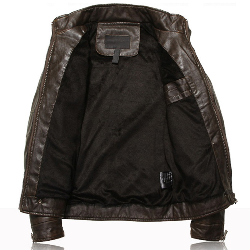 Mountainskin Men's Leather Jackets Motorcycle PU Jacket Male Autumn Casual Leather Coats Slim Fit Mens Brand Clothing SA588 3