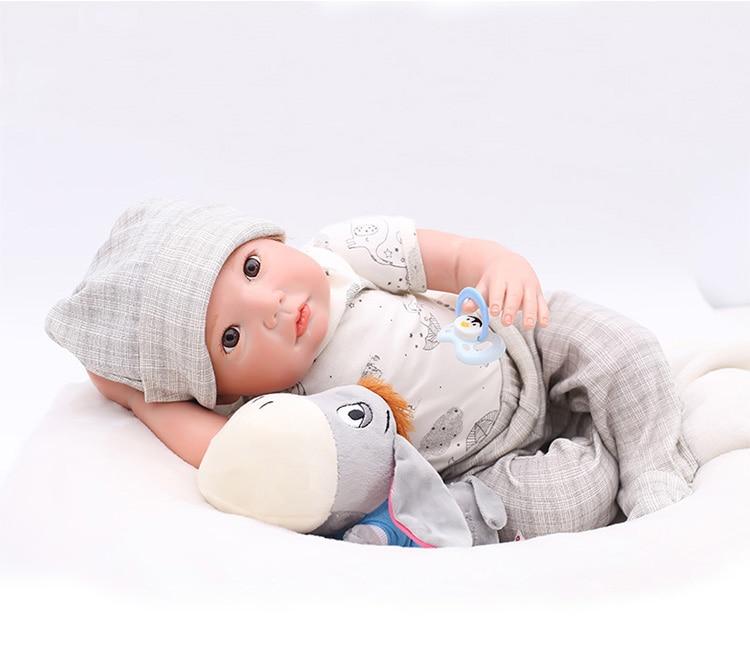 Beautiful big eyes 20 Inch Doll Reborn Babies Doll For Girls or boy 51 CM DIY 3/4 silicone Alive Reborn Baby Doll For Kids toy Beautiful big eyes 20 Inch Doll Reborn Babies Doll For Girls or boy 51 CM DIY 3/4 silicone Alive Reborn Baby Doll For Kids toy