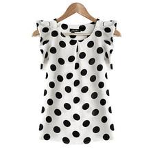 Fashion Girl Women Casual Chiffon Shirt Short Sleeve Summer Tops Black White