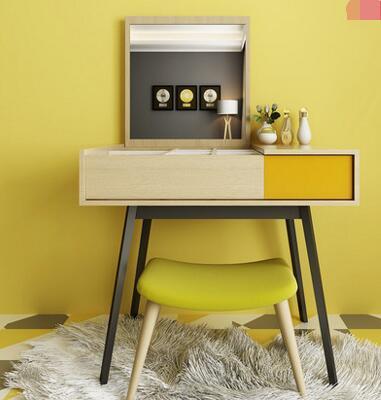 Fashion flip dresser multi-function bedroom dresser. multi function green