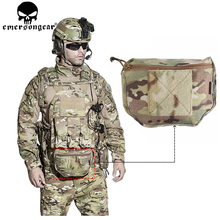 EMERSONGEAR 갑옷 캐리어 드롭 파우치 AVS JPC CPC 전술 덤프 파우치 장난감 총 플레이트 캐리어 가방 도구 파우치 멀티캠 EM9283