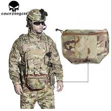 EMERSONGEAR Armor Carrier di Goccia Del Sacchetto AVS JPC CPC Piastra di Supporto Del Sacchetto Camouflage MOLLE del Sacchetto Della Vita Emerson EM9283 Multicam cordura