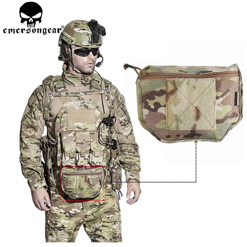EMERSONGEAR Tactical Pouch Armor Carrier Dump Drop Pouch Airsoft Plate Carrier Bag Tool AVS IPC Vest Pouch Multicam EM9283