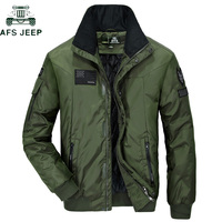 AFS JEEP Waterproof Military Bomber Jacket Men Cotton Stand Collar Casual Jacket hombre Air Force One Army Jackets Plus Size 3XL