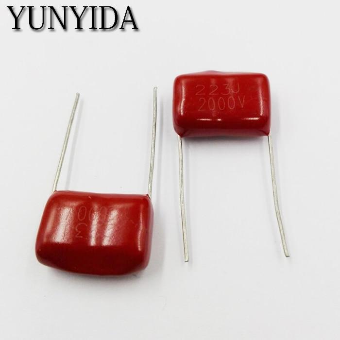 Envío gratis 10 Uds CBB condensador de película de polipropileno 473J 223J 2KV 22NF 47nf 2000V 2000V223J P20mm