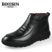 DEKESEN Men Boots Winter With Fur 2017 Warm Snow Boots Men Winter Shoes Footwear Fashion Male