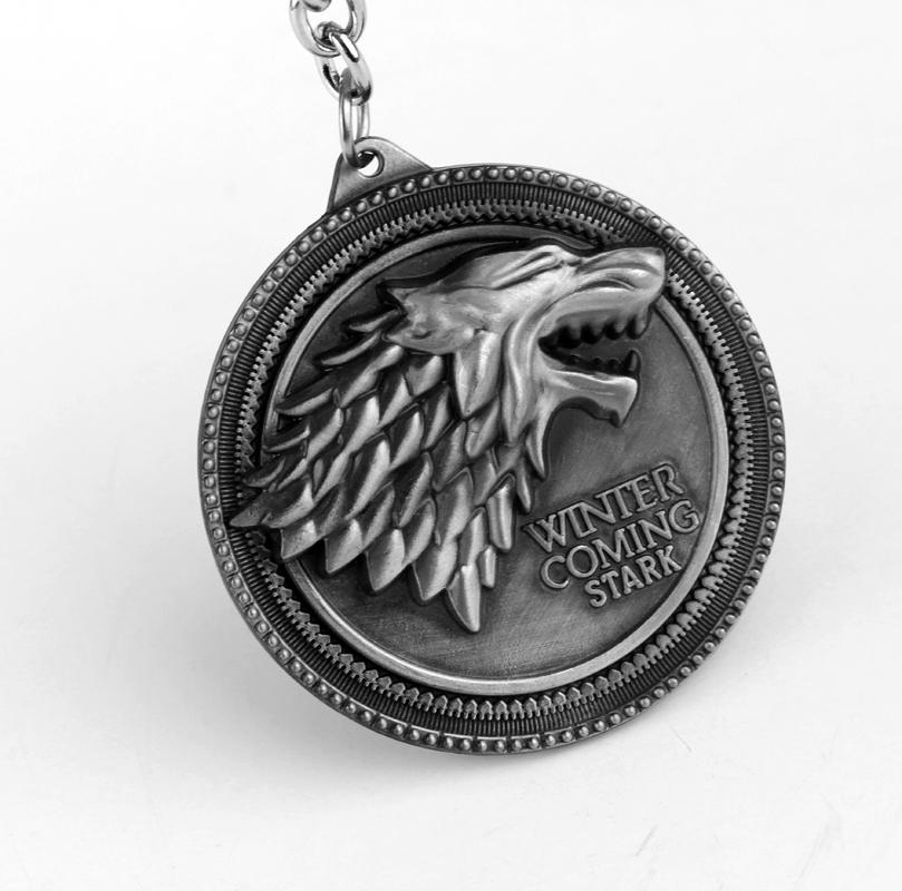 Game of Thrones Shield Keychain Wolf Head Logo House Stark High Quality  Maxi Keychain Men Car Accessories Wolf Head Keyrings-in Key Chains from  Jewelry ... 99a06f632642