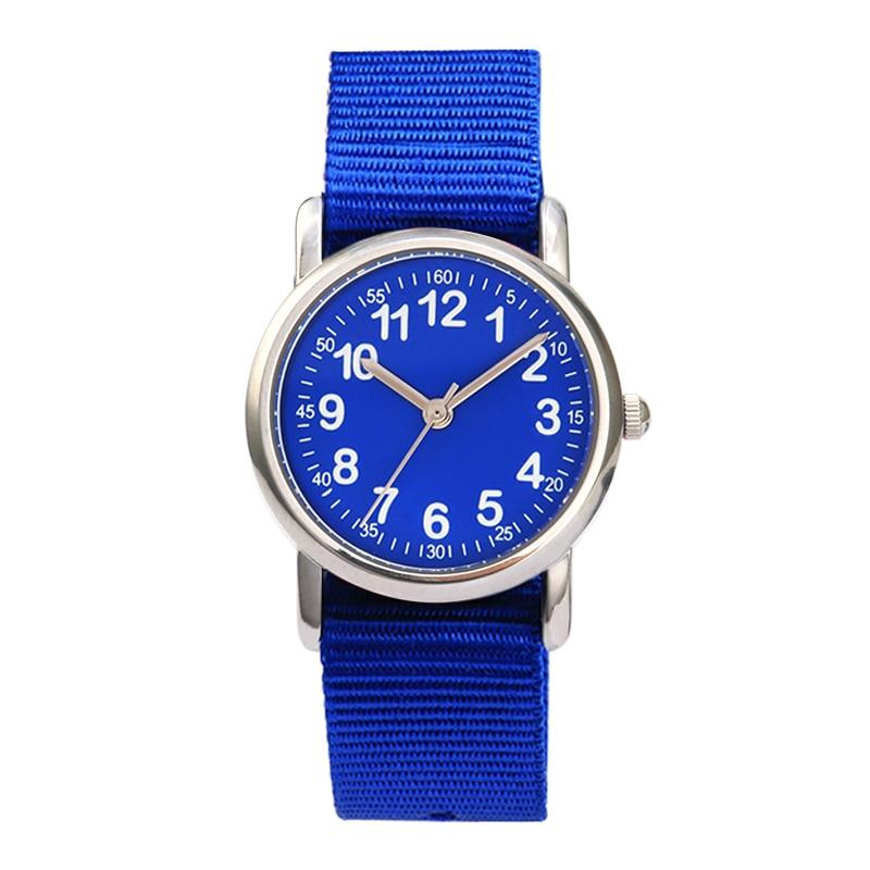 Watches Kid nylon Straps Wristwatch Children Quartz Watch Cute Clock
