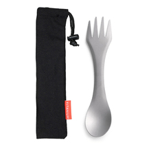 Titanium 2-In-1 Spork Outdoor Camping Picnic Spoon Fork Titanium Spoon Picnic Traveling Camping Tableware Ultralight Spoon Fork цена и фото