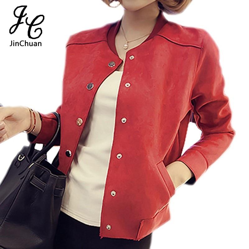 High quality women tops autumn winter beading casual short jacket flare  sleeve soft suede jacket baseball ... bdbe4950e709
