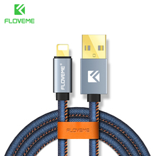 FLOVEME Lighting Cable For iPhone X 8 7 Plus 6 6S 5S 5 Cabo USB Charging Cable 5V 2.1A 30cm 1m 2m Charger For iPhone 5S 5 SE 5C