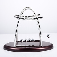 Hot Sale New Design Decorative Oval Arch Circular Newton Billiards Sail Pendulum Physics Science Newton Billiards