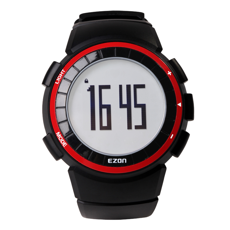 EZON Men Running Outdoor Digital Watches Sports Pedometer 50M Waterproof Calorie Counter Fitness Multifunction Wrist Watch Red стоимость