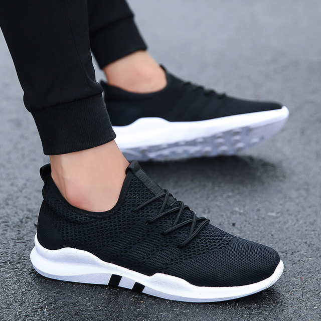 8560e6a2de31 hot sale outdoors Athletic Lace up Lightweight running sports shoes for man  New 2018 spring Autumn Breathable Fitness sneakers-in Running Shoes from  Sports ...