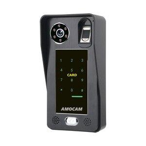 Image 4 - Intercomunicador con huella dactilar RFIC para puerta, 7 pulgadas, inalámbrico/con cable, Wifi, contraseña, vídeo, 1000TVL, cámara, desbloqueo, registro
