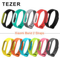 TEZER doble color mi band 2 accesorios pulseira mi band 2 Correa de repuesto de silicona pulsera para xiaomi mi2 smart bracelet