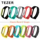 TEZER Double color mi band 2 accessories pulseira miband 2 strap replacement silicone wriststrap for xiaomi mi2 smart bracelet