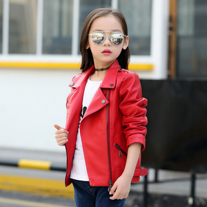 Image 2 - Brand Fashion Child Coat Waterproof Baby Girls Boys Leather Jackets Children Outfits For Age 3 14 Years Old