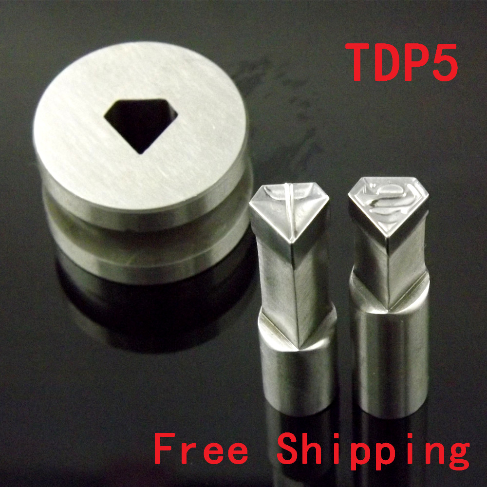New Superman Punching Die Mold Stamp TDP5 for candy tablet press mold pill maker Free Shipping high quality manual single punch tablet pill press pill making machine maker tdp 0 free shipping