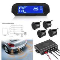 Solar Power Wireless LCD Car Parking Sensor Kit Auto Reversing Backup Radar Detector Assistance System with 4 Sensors