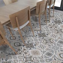 цена 10pcs/set Creative Ceramic Tile Pattern Floor Mat Stick Wall Stick Wallpaper Anti-slip Waterproof BathRoom Art Home Decor Mural в интернет-магазинах