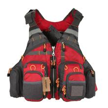 Outdoor Sport Fishing Life Vest Men Breathable Swimming Life Jacket Safety Waistcoat Survival Utility Buoyancy potential Vest