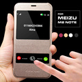Coque de lujo para meizu m2 note caso trasero duro de la piel móvil teléfono flip cubierta de cuero para meizu m2 note ventana inteligente de llamadas