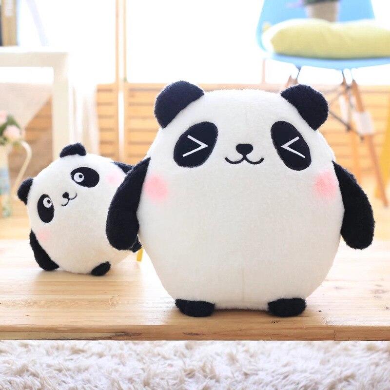 Kawaii Plush Panda Toy Cushion Bamboo Charcoal Pillow Lovely Doll Cartoon Toys Home Decorative Throw