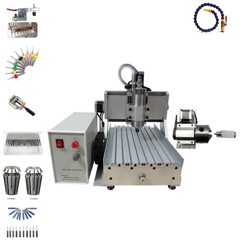 1500W water cooled spindle cnc router 3020 wood PCB engraving machine with cutter collet clamp vise drilling kits
