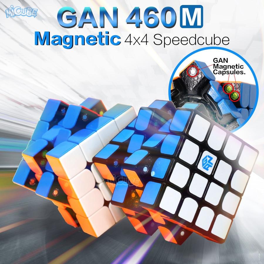GAN 460 m Magnétique Cube 4x4 Magique Cube 4x4x4 Gan 460 m Vitesse Gan460 M Cubo Magico 4*4 Professionnel Puzzle Stickerless Gan Cube