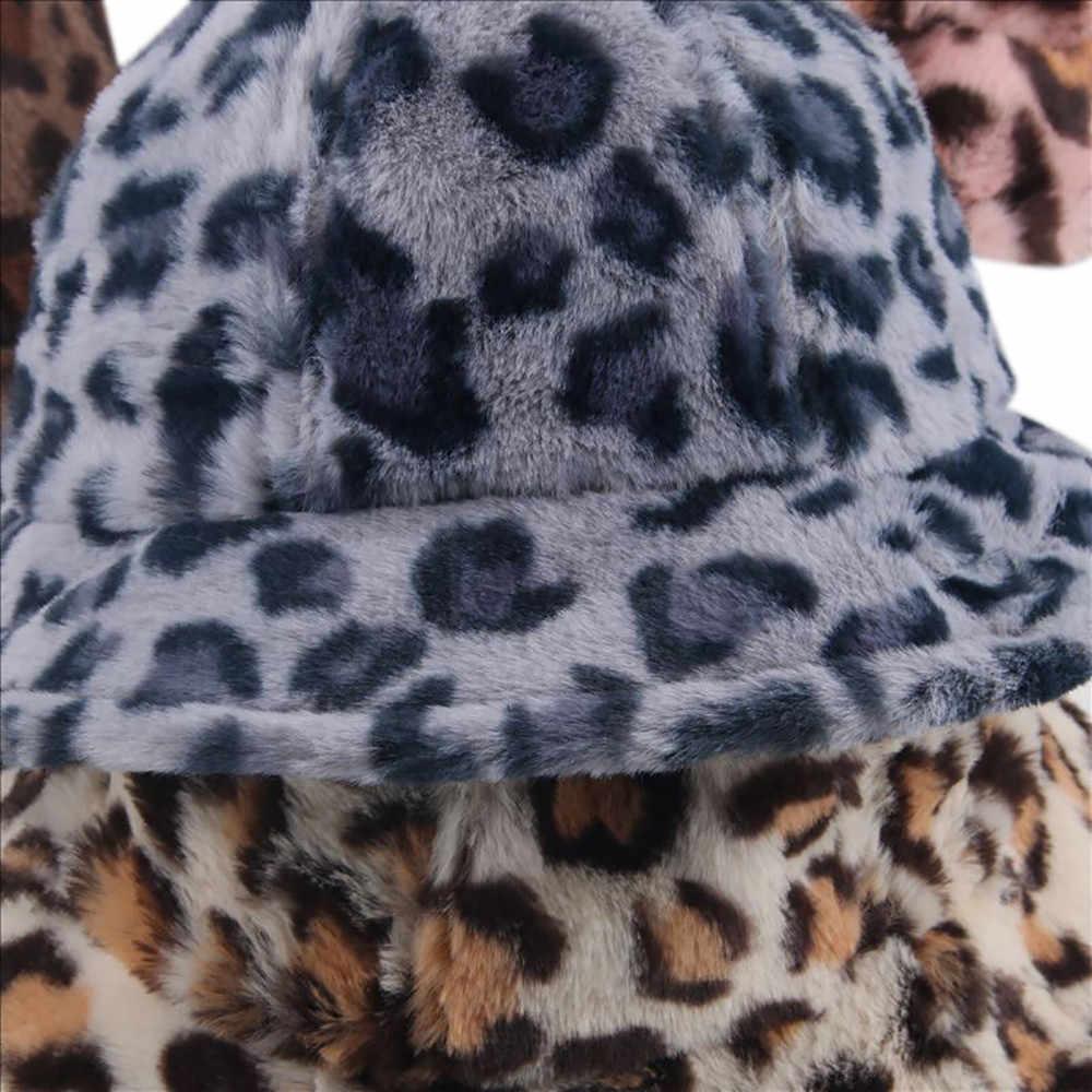 Hat &Caps 1pc Bucket  Hats Winter Fisherman Hat Boy And Girl Warm Fashion Leopard Hat Cotton Fashion  Accessories  2018 oct24