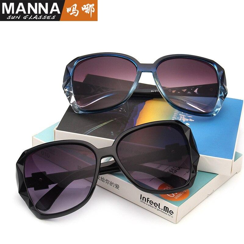 Winszenith 189 Européenne et Américaine de la mode à la mode lunettes de soleil rétro grande boîte dames lunettes de soleil