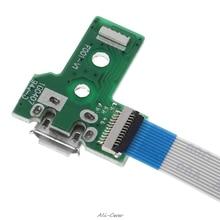 USB CHARGING Port BOARD 12 PIN FLEX CABLE สำหรับ JDS 030 PS4 Controller กรกฎาคม 271 Drop Ship