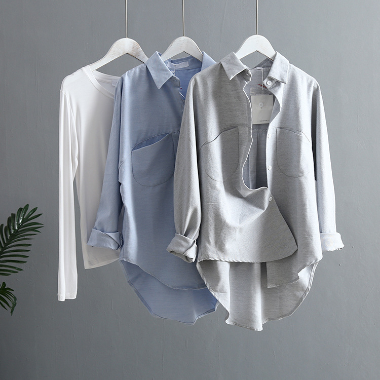 Blouse Korean Long Sleeve Tops And Blouses Vintage Women Shirts 15