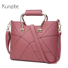 Kunzite Small Patchwork Crossbody Bags For Women Bag 2017 Laides Handbag Famous Brand Threads Designer Shoulder Bags Sac A Main